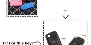 Cover in silicone telecomando chiave per VW Golf Bora Jetta POLO GOLF Passat Skoda Octavia A5 Fabia SEAT Ibiza Leon 1